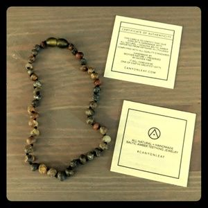 Canyon leaf Amber teething necklace firm price